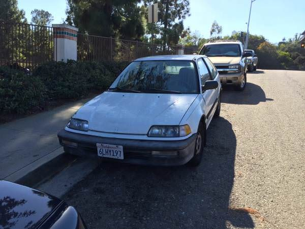 Junk 1990 Honda Civic in Carlsbad