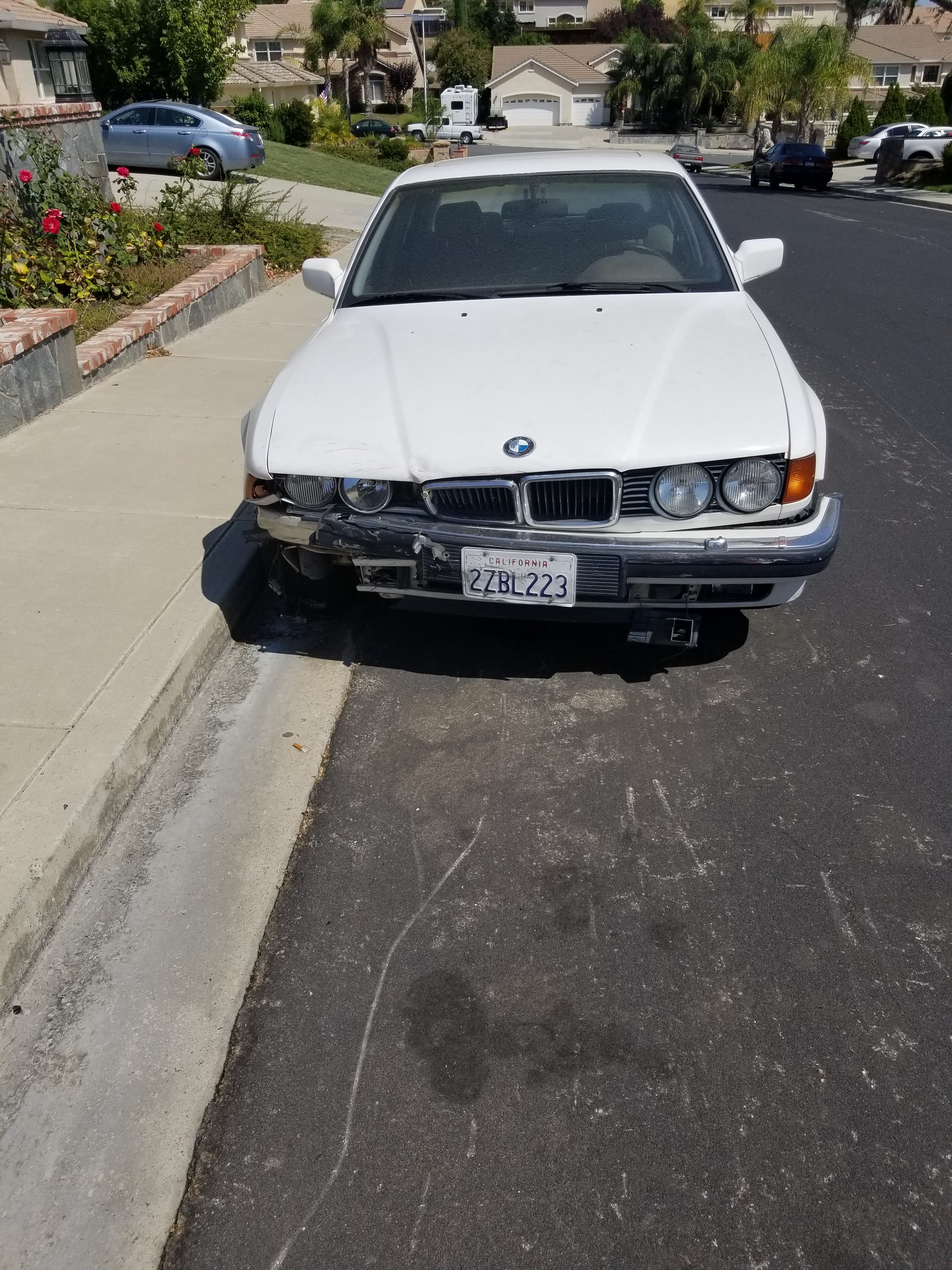 Junk 1991 BMW 750 in Antioch