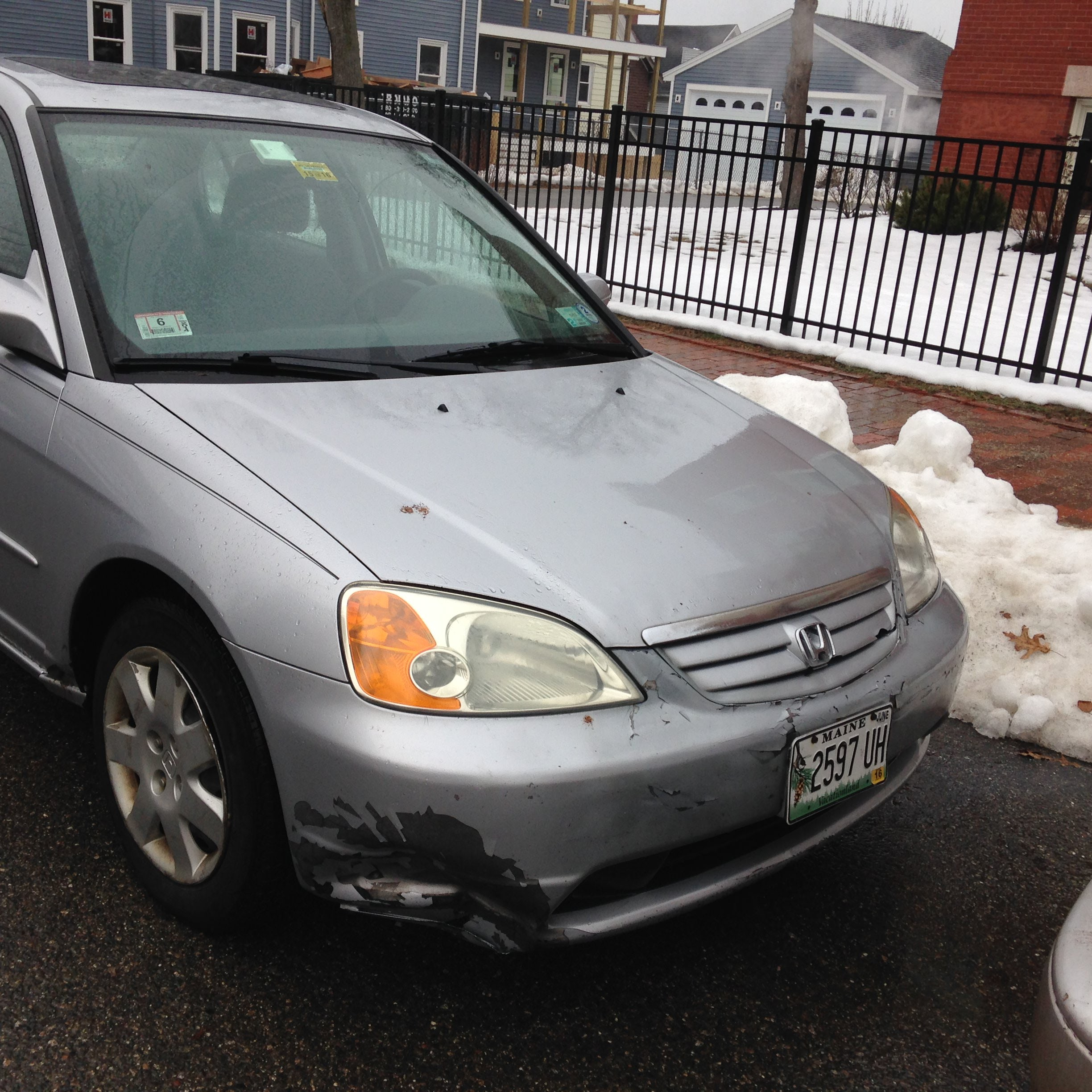 Junk 2001 Honda Civic in South Portland