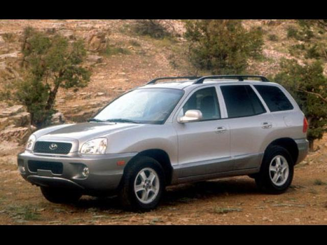 Junk 2003 Hyundai Santa Fe in Red Rock