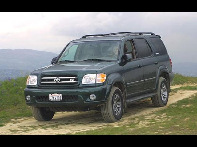 Junk 2003 Toyota Sequoia in Orange