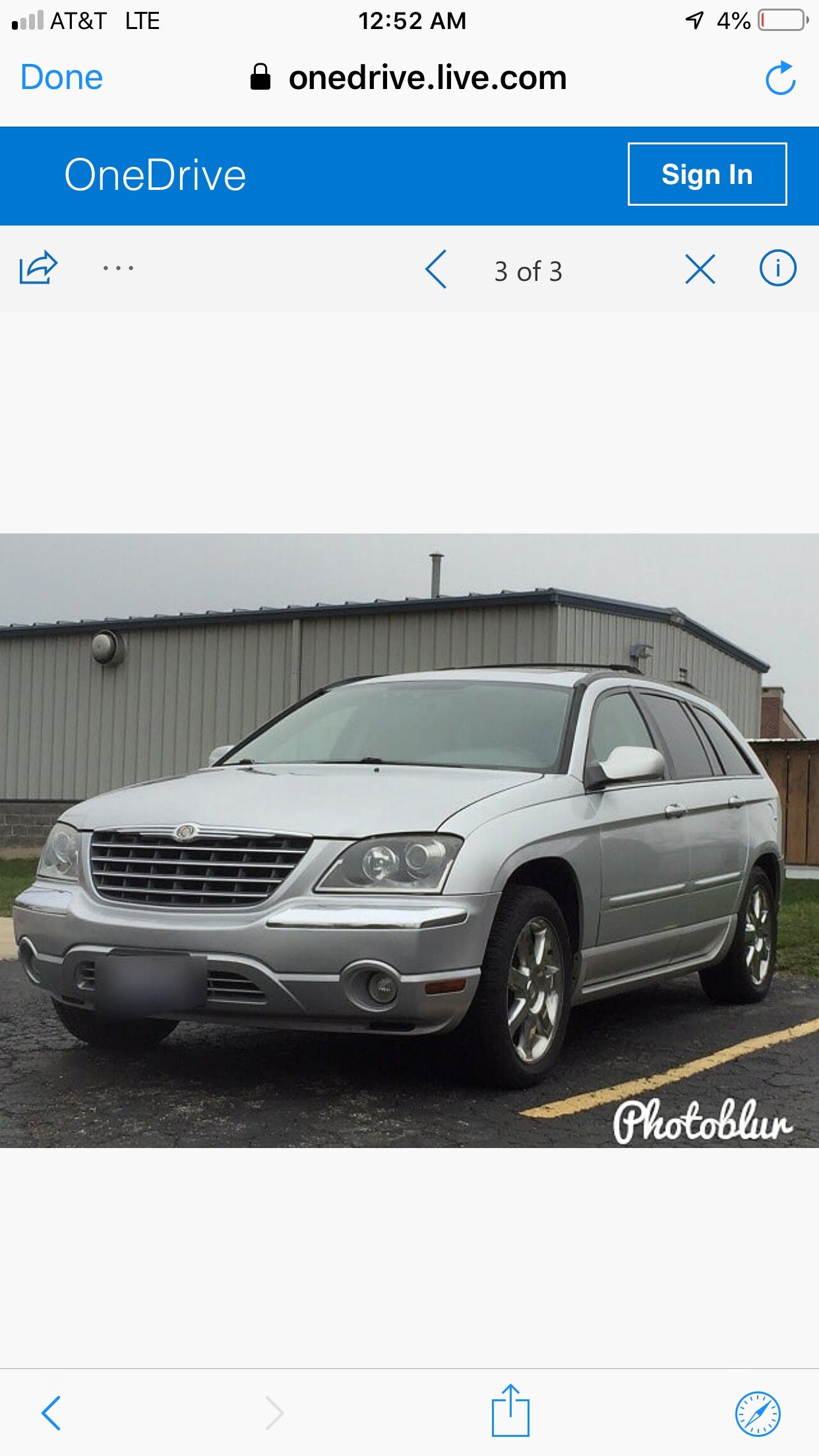Junk 2005 Chrysler Pacifica in Woodstock