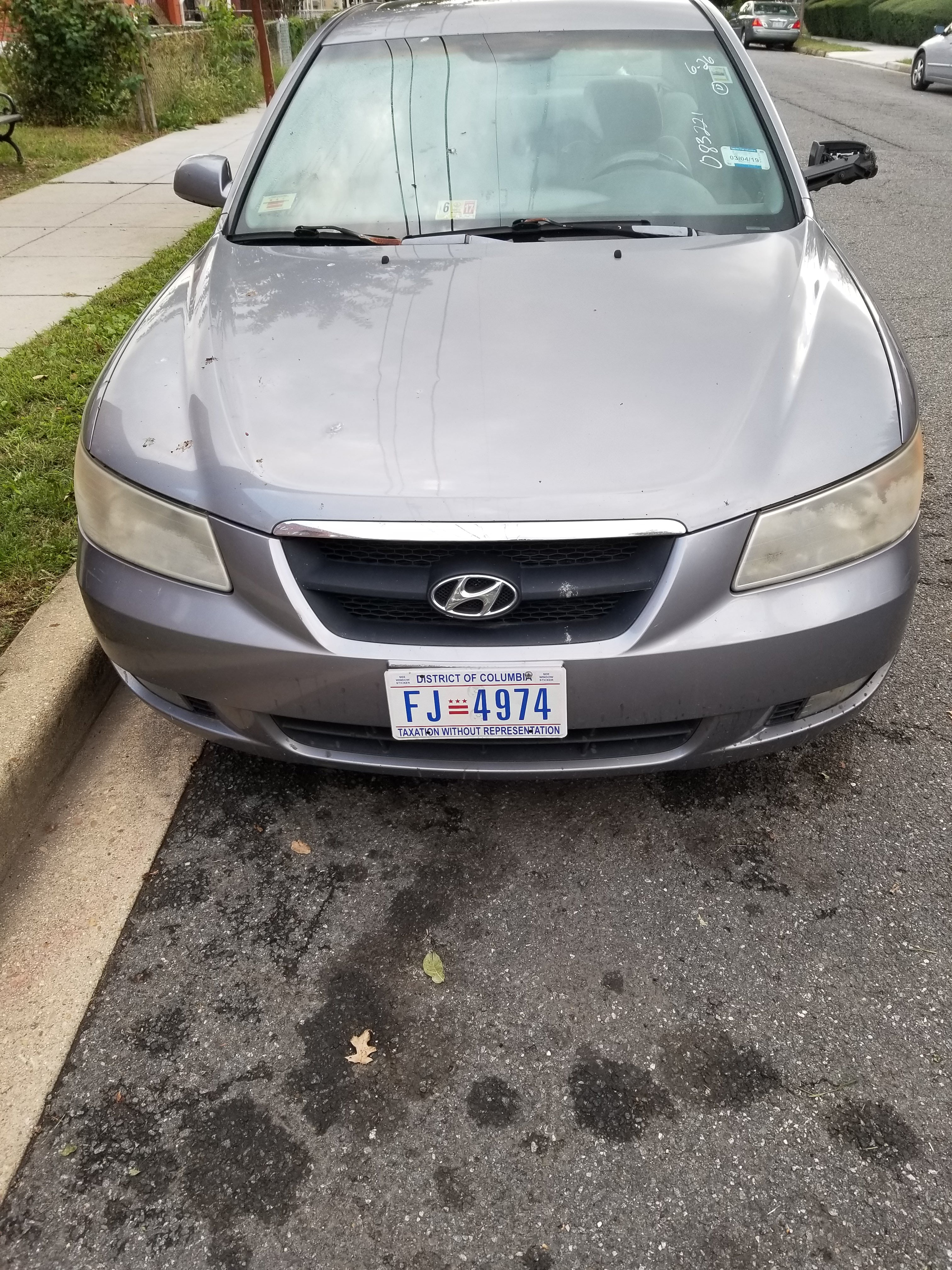 Junk 2006 Hyundai Sonata in Washington