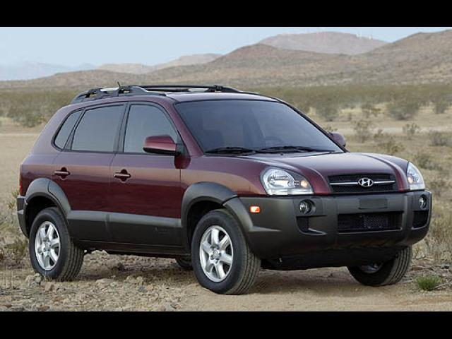 Junk 2007 Hyundai Tucson in Los Angeles
