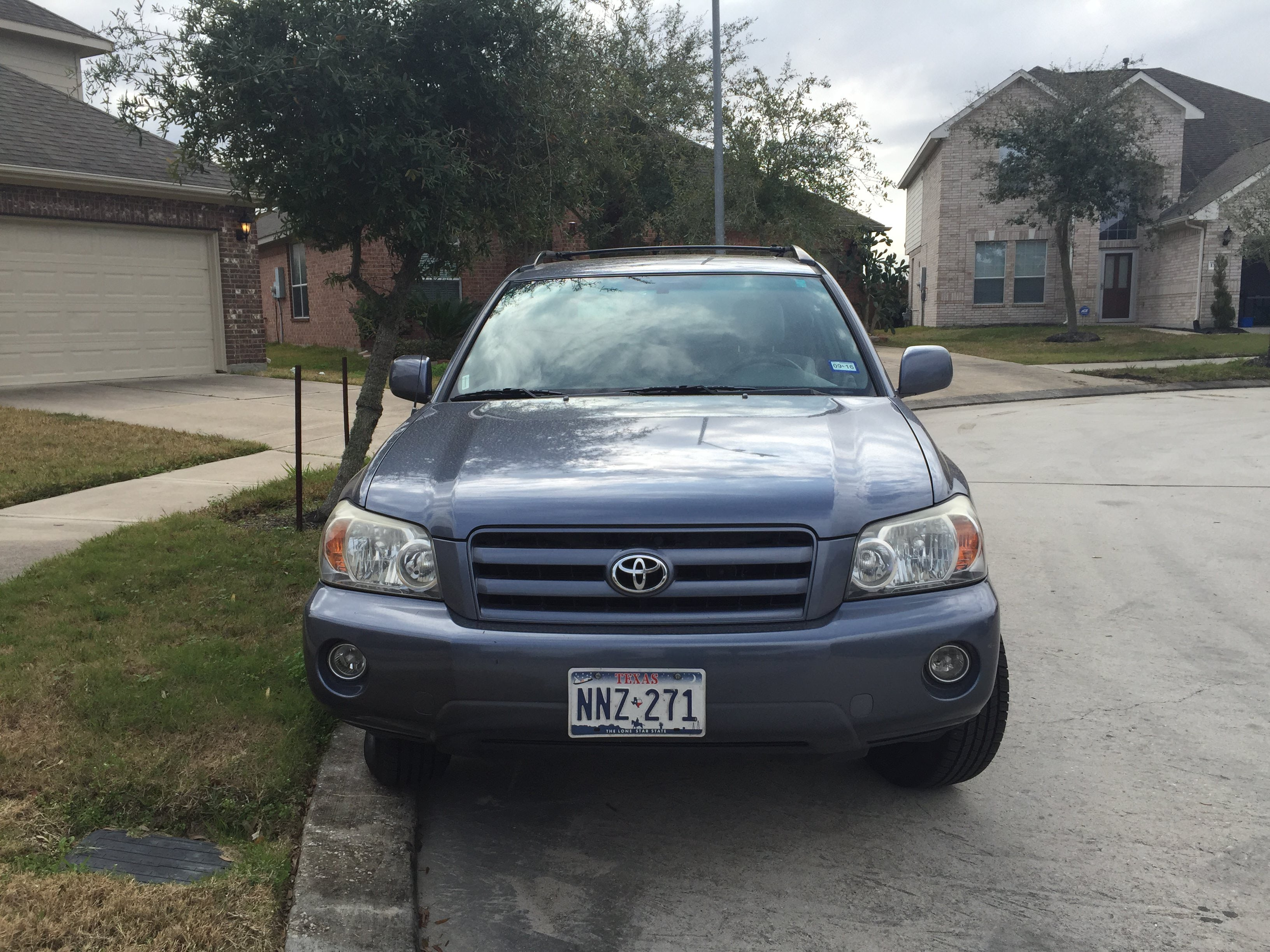 Junk 2007 Toyota Highlander in Houston