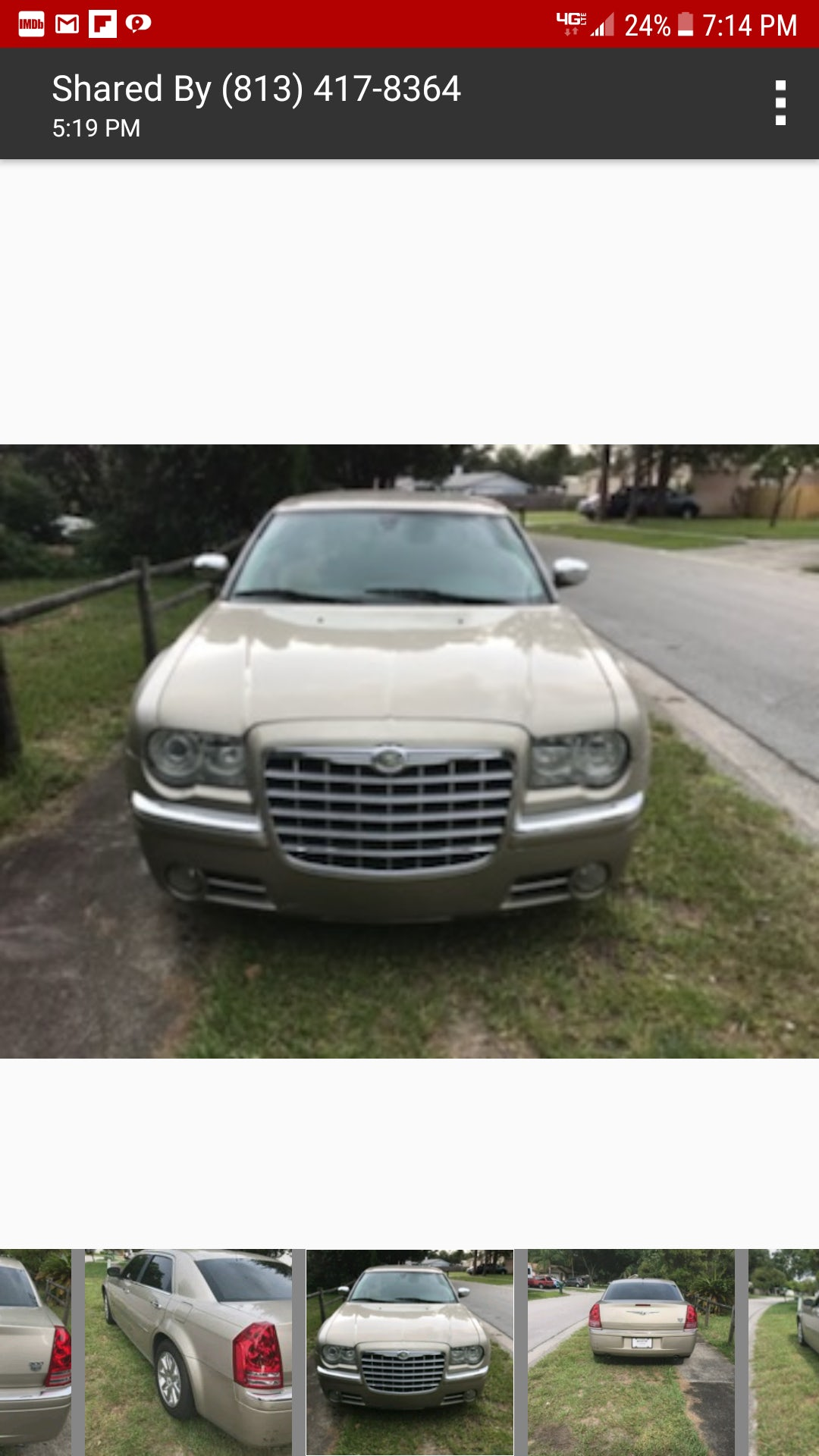 Junk 2008 Chrysler 300C in Holiday